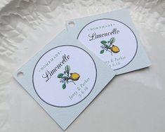 Limoncello tag  Wedding Favor Tags Limoncello by SandpiperPress