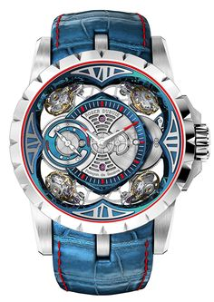 Introducing The Roger Dubuis Excalibur Quatuor Cobalt MicroMelt (And Two Other New Excalibur Watches) Dream Watches, Men's Watches, Cool Watches, Unique Watches, Amazing Watches, Beautiful Watches, High End Watches, Silver Pocket Watch, Skeleton Watches