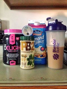 Brew a K Cup of your choice (let it cool to room temp after) + cup of Unsweetened Almond Milk + 1 tbsp of powder + 1 scoop of your fav. Shake it up in your blender bottle, add ice & enjoy ! Healthy Smoothies, Healthy Drinks, Get Healthy, Healthy Shakes, Healthy Eating, Healthy Foods, Healthy Recipes, Keto Recipes, Clean Eating