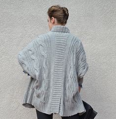 Knitting Pattern Name: Grey Dolman Cardigan Pattern by: Irina Anikeeva