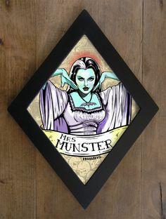 EUR) by bwanadevilart Beetlejuice, Horror Decor, Horror Art, Frankenstein, Rockabilly, Lily Munster, Gothic House, The Munsters, Psychobilly