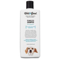 Gentle formula for puppies that effectively cleans without drying or irritation.