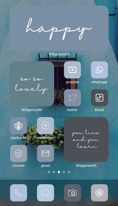 Want a home screen that looks like this? Check out SOSO Branding on Etsy (etsy.com/shop/sosobranding) for app covers to customize your home screen and make it aesthetically pleasing! iPhone home screen ideas | Home screen inspo | Aesthetic home screen inspiration | Widgetsmith Shortcuts app | Aesthetic home screen inspo | iOS 14 widget photos | iOS 14 app covers | iOS 14 app icons Microsoft Visio, Microsoft Powerpoint, Blue Tones, Neutral Tones, Shortcut Icon, Ios, Any App, App Covers, Phone Organization