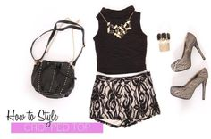 This is how to work a crop top and high waisted shorts.   #fashion #shopping #style #love #womens #clothing #outfit #Styles For Less #Apopka, #FL