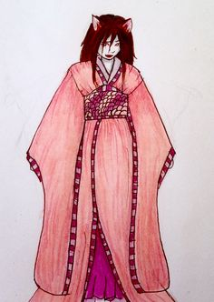 Emiko as a bakeneko
