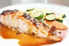 Clean Eating Recipe – Sweet Ginger Glazed Salmon | Clean Eating Recipes  #cleaneating #eatclean #recipe