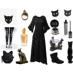 The Witch's Familiar by maggiehemlock on Polyvore featuring polyvore fashion style Doublju Vero Moda Kill Star ASOS Stila Xerjoff
