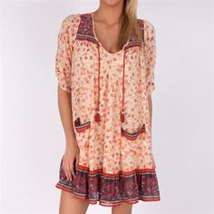 Free People Womens Contemporary Check Chiffon Penny Lane Dress #VonMaur #FreePeople #Printed #Chiffon #Ruffled #Pockets