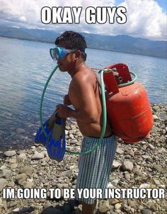 scuba diving...I think I will wait for the next instructor.  Thanks though.