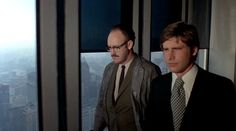 Gene Hackman and Harrison Ford in The Conversation