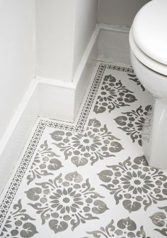 Tile Stencil Tile Stencils for DIY – paint your Tiles yourself! Tiles for wall floor fabrics furniture carpet wood - Painted Floor Tile Painting Tile Floors, Painted Floors, Diy Painting, Stencil Concrete, Concrete Floors, Tile Stencils, Parquet Flooring, Stenciling, Plywood Floors