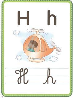 abecedario, letras, fichas lengua, lectura, leer Alphabet Writing, Teaching Spanish, Diy And Crafts, Homeschool, Classroom, Symbols, Letters, Education, Sites