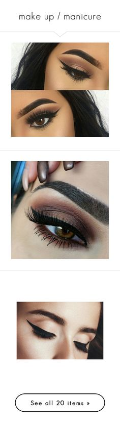 """make up / manicure"" by janeorlova ❤ liked on Polyvore featuring beauty products, makeup, eye makeup, eyeliner, eyes, beauty, eyebrow makeup, liquid pencil eyeliner, eye pencil makeup and liquid eyeliner"