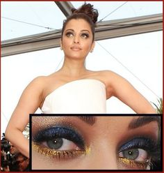 Aishwarya Rai Eye Make Up Look before the opening ceremony of 2011Cannes Film Festival.