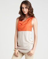 Ann Taylor - colorblock cowl neck top