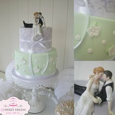 Mint & Lilac Romance - by cjsweettreats @ CakesDecor.com - cake decorating website