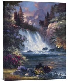 Buy Positive Energy Wall Art Painting Sunrise Falls – Explosion Luck