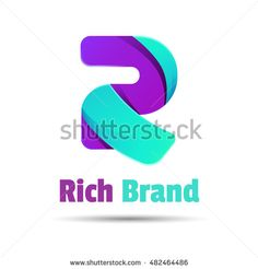 Sign the letter R color ribbon business logo icon. Creative colorful abstract vector design illustration. Template for your company.