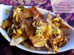 another great #recipe from @sweetsavant!  with a name like WonTachos it HAS TO BE good! Lol sorry smuckers! --Pulled Pork WonTachos