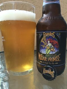 Founders Mosaic Promise • Beautiful tropical pineapple aroma. Fruity tropical sweet flavors come first followed by some nice orange tanginess. A nice little bitter citrus and piney bit answers with some balance. There is also a distinct grainy flavor that stands out too!  Light lemon and grapefruit astringency build after a while. Wanted more fruity sweetness. Good but not awesome! Single hops and single malts are overrated in general, and not just beer! GO with the HATE!
