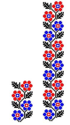 MP411 | www.binecusut.ro | Flickr Cross Stitch Borders, Cross Stitch Rose, Cross Stitch Flowers, Cross Stitch Designs, Cross Stitching, Cross Stitch Patterns, Folk Embroidery, Hand Embroidery Patterns, Cross Stitch Embroidery
