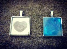 Breastmilk pendants by PRECIOUS DROPS