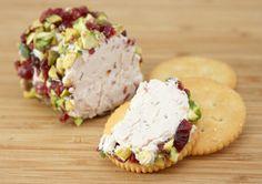 cranberry & pistachio goat cheese appetizer