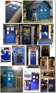 10 Doctor Who TARDIS Crafts. I am willing to pay someone to do them for me.