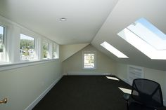 Attic conversion with dormer addition