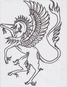 Unicorn Horn Magic Pony Horse Equine Alicorn Pegas by StephanieSmall on DeviantArt Horse Coloring Pages, Adult Coloring Pages, Mermaid Man, Family Shield, Unicorn Tattoos, Pony Horse, Coat Of Arms, Mythical Creatures, Beautiful Creatures