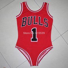 6985bf2c51141 US $10.5 |Beyonce Bulls Derrick Rose Swimsuit Bodysuit Summer Style Women  Sexy one piece bathing suit BAE WATCH Swimwear Swim Suit Jersey on  Aliexpress.com ...