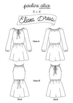 Pauline Alice | Eliana Dress Sewing Pattern | Backstitch