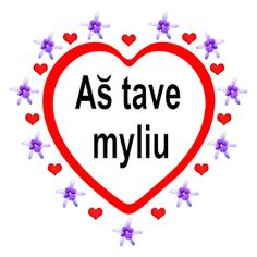 I love you Magnet in the Lithuanian Language by imagesetc on Etsy, $4.00