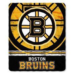 Boston Bruins Blanket 50x60 Fleece Fade Away Design #BostonBruins