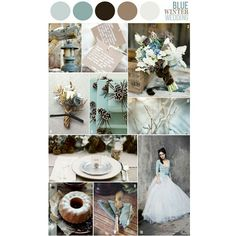 """""""This is a good example of other seasonal colors mixed in with winter colors - aqua/turquoise are most often used in spring/summer weddings but go so well…"""""""