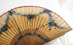 Ladies Hand Fan with Floral Decoration 20th C