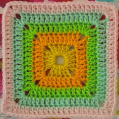 Solid Crocheted Square, free pattern by Sarah London