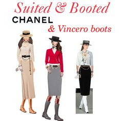 Classic Chanel: boaters & boots by stylemyride on Polyvore featuring polyvore fashion style Theory Chanel Tamara Mellon Lanvin Super Duper Tome Jaeger La Perla SHOUROUK Suz Somersall BERRICLE Lisa Battaglia Overland Sheepskin Co.