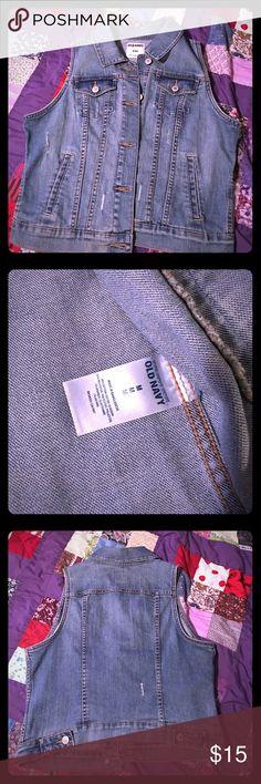 Distressed Denim Vest Distressed Jean Vest NWOT-Never been worn-Medium Old Navy Jackets & Coats Vests