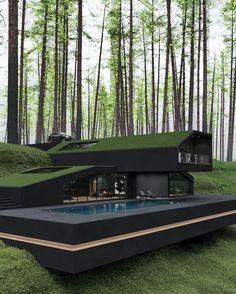 Dream Home Design, Home Design Plans, Modern House Design, Villa Design, Modern Architecture House, Interior Architecture, Biophilic Architecture, Residential Architecture, Container Architecture