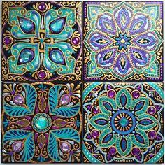 Tile Patterns, Textures Patterns, Mosaic Projects, Art Projects, Stencil, Art Chinois, Art Japonais, Dot Art Painting, Mosaic Designs