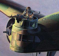 MITSUBISHI TYPE 93 Mk.1(Ki2-1) nose gunner station detail