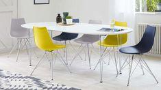 Modern White Oval Extending Table