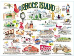 Rhode Island icons