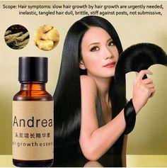 Produto de perda de cabelo crescimento do cabelo Andrea essência 20 ML preto grosso homens e mulheres soro líquido cabelo denso crescimento do cabelo soro essencial alishoppbrasil