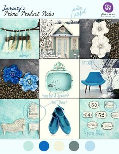 January's BAP features gorgeous cool blues and amazing NEW CHA products! #PPP #challenges #colorpalette