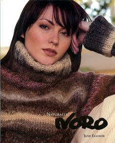 Naturally Noro -Knitting Patterns by Jane Ellison - 22 Patterns - Women Men Home