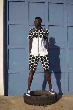 Laurence Airline Spring Summer 2015 collection by Ivorian designer Laurence Chauvin-Buthaud African Dresses For Women, African Attire, African Wear, African Women, African Inspired Fashion, African Print Fashion, Africa Fashion, African Prints, Ankara Fashion