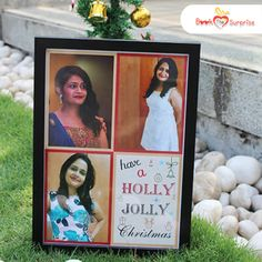 Do you hear bells ringing? With all the vibes around, you can gift your loved ones a charming - Holly Jolly Christmas frame. Christmas Frames, Christmas Bells, Christmas Gifts, Frame It, Surprise Gifts, First Love, Festive, Presents, Joy