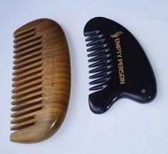nature health pocket comb set 1pc green sandalwood comb + 1pc real ox horn comb…